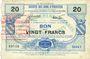 Banknoten Viesly (59). Société des Bons d'Emission. Billet. 20 francs, série 1