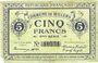 Banknoten Willems (59). Commune. Billet. 5 francs, 11e série