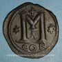 Münzen Empire byzantin. Anastase (491-518). Follis. Constantinople, 1ère officine, 498-518