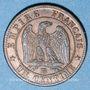 Gestohlene objekte 2e empire (1852-70), 1 cme tête laurée 1862BB Strasbourg, grand BB