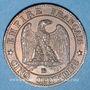 Gestohlene objekte 2e empire (1852-70), 5 cmes tête laurée 1863BB Strasbourg
