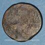 Gestohlene objekte Auguste et Agrippa. Dupondius. Nîmes, 16 - 10 avant J-C. Imitation locale contremarquée