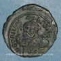 Gestohlene objekte Empire byzantin. Théophile (829-842). 1/2 follis. Constantinople, 830/831-842