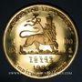 Gestohlene objekte Ethiopie. Hailé Selassié I (1930-1936, 1941-1974). 100 dollars 1966. 900 /1000. 40 g.