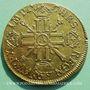 Gestohlene objekte Louis XIV (1643-1715), double louis d'or aux 8L et aux insignes 1702A