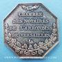 Gestohlene objekte Notaires, Versailles, jeton argent. Poinçon : main indicatrice