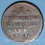 Münzen Brunswick-Calenberg-Hanovre. Georges III (1760-1814). 1 pfennig 1781CES