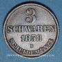 Münzen Oldenbourg. Nicolas Frédéric Pierre (1853-1900). 3 schwaren 1858 B