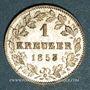 Münzen Wurtemberg. Guillaume I (1816-1864). 1 kreuzer 1853