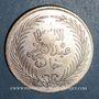 Münzen Abdoul Hamid II avec Mohammed el-Sadok, bey (1293-1299H). 4 piastres 1290H, contremarqué