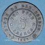 Münzen Algérie. Société des Mines et Fonderies de Gar-Rouban. 5 francs 1865