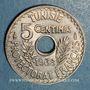 Münzen Tunisie. Ahmed II, bey (1348-1361H = 1929-1942). 5 centimes 1938