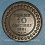 Münzen Tunisie. Ali III, bey (1299-1320H = 1882-1902). 10 centimes 1308H (= 1891)