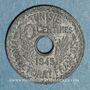 Münzen Tunisie. Mohammed al -Amine, bey (1362-76H). 10 centimes 1945