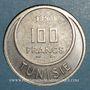 Münzen Tunisie. Mohammed al -Amine, bey (1362-76H). 100 francs 1950. Essai