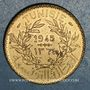 Münzen Tunisie. Mohammed al -Amine, bey (1362-76H). 2 francs 1945