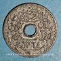 Münzen Tunisie. Mohammed al -Amine, bey (1362-76H). 20 centimes 1945