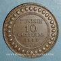 Münzen Tunisie. Mohammed En-Naceur (1324-1340H). 10 centimes 1916A