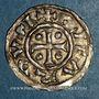 Münzen Duché de Normandie. Richard I (942-996). Denier au fronton. Rouen