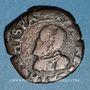 Münzen Franche Comté. Comté de Bourgogne. Philippe II (1556-1598). Double denier, 1595. Dôle