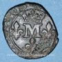 Münzen Principauté de Dombes. Anne-Marie-Louise d'Orléans (1650-1693). Liard (167)7