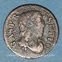 Münzen Principauté de Dombes. Gaston d'Orléans (1627-50). Denier tournois 1649. Variante inédite !
