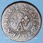 Münzen Principauté de Dombes. Gaston d'Orléans (1627-50), denier tournois 1651
