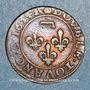 Münzen Principauté de Dombes. Gaston d'Orléans (1627-50). Double tournois 1634