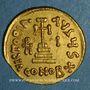 Münzen Empire byzantin. Héraclius avec Héraclius Constantin et Héracleonas (632-41) Solidus. Constantinople