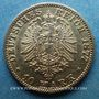 Münzen Bade. Frédéric I, grand duc (1856-1907). 10 mark 1877 G. (PTL 900‰. 3,98 g)