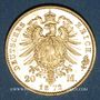 Münzen Bavière. Louis II (1864-1886). 20  mark 1872 D. (PTL 900‰. 7,96 g)