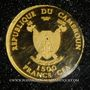Münzen Cameroun. République. 1500 francs CFA 2011 (PTL 999‰. 0,5 g)