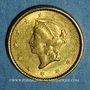 Münzen Etats Unis. 1 dollar 1851. (PTL 900‰. 1,67 g)