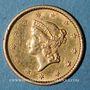 Münzen Etats Unis. 1 dollar 1852. (PTL 900‰. 1,67 g)