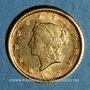 Münzen Etats Unis. 1 dollar 1853. (PTL 900‰. 1,67 g)