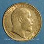 Münzen Grande Bretagne. Edouard VII (1901-1910). 1/2 souverain 1910. (PTL 917‰. 3,99 g)