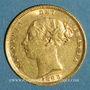 Münzen Grande Bretagne. Victoria (1837-1901). 1/2 souverain 1883. (PTL 917‰. 3,99 g)
