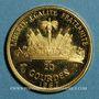 Münzen Haïti. République (1863- /). 20 gourdes 1967. 10e anniversaire de la révolution. (PTL 900‰. 3,95 g)