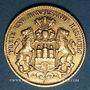 Münzen Hambourg. 10 mark 1893 J. (PTL 900‰. 3,98 g)