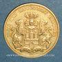 Münzen Hambourg. 20 mark 1875 J. (PTL 900‰. 7,96 g)