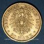 Münzen Hambourg. 20 mark 1876 J. (PTL 900‰. 7,96 g)
