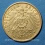Münzen Hambourg. 20 mark 1893 J. (PTL 900‰. 7,96 g)
