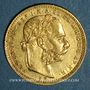 Münzen Hongrie. François Joseph I (1848-1916). 20 francs / 8 florins 1880 KB. (PTL 900‰. 6,45 g)