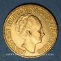 Münzen Pays Bas. Wilhelmine (1890-1948). 10 florins (= 10 gulden) 1927. (PTL 900‰. 6,72 g)