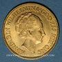 Münzen Pays Bas. Wilhelmine (1890-1948). 10 florins (= 10 gulden) 1933. (PTL 900‰. 6,72 g)