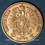 Münzen Prusse. Guillaume I (1861-1888). 10 mark 1873 C. (PTL 900‰. 3,98 g)