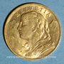 Münzen Suisse. 20 francs Vrenelli 1922 B. (PTL 900‰. 6,45 g)