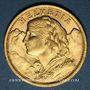 Münzen Suisse. Confédération. 20 francs Vreneli 1909 B. (PTL 900‰. 6,45 g)