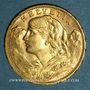 Münzen Suisse. Confédération. 20 francs Vreneli 1913 B. (PTL 900‰. 6,45 g)