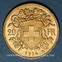 Münzen Suisse. Confédération. 20 francs Vreneli 1914 B. (PTL 900‰. 6,45 g)